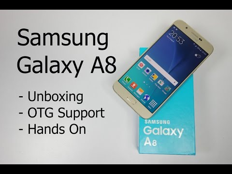 Samsung Galaxy A8 Unboxing, OTG Support and Hands On | AllAboutTechnologies