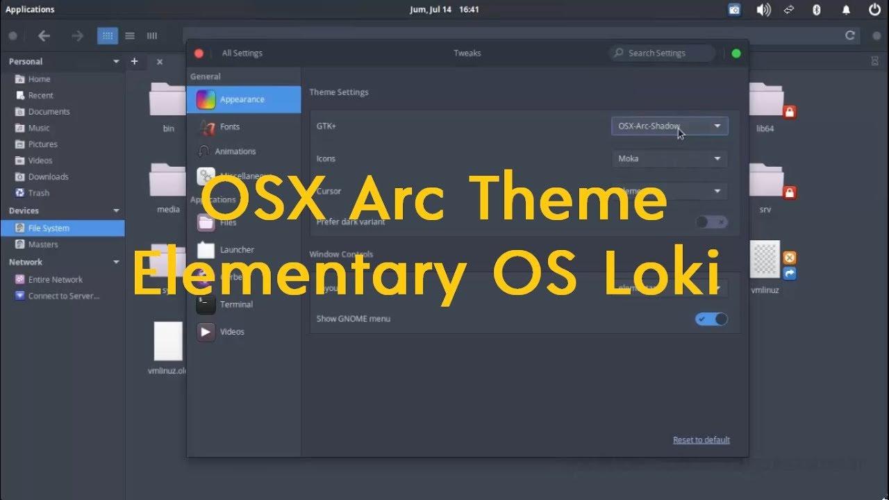 Elementary OS Tutorial - Install OSX Arc Darker Theme ...
