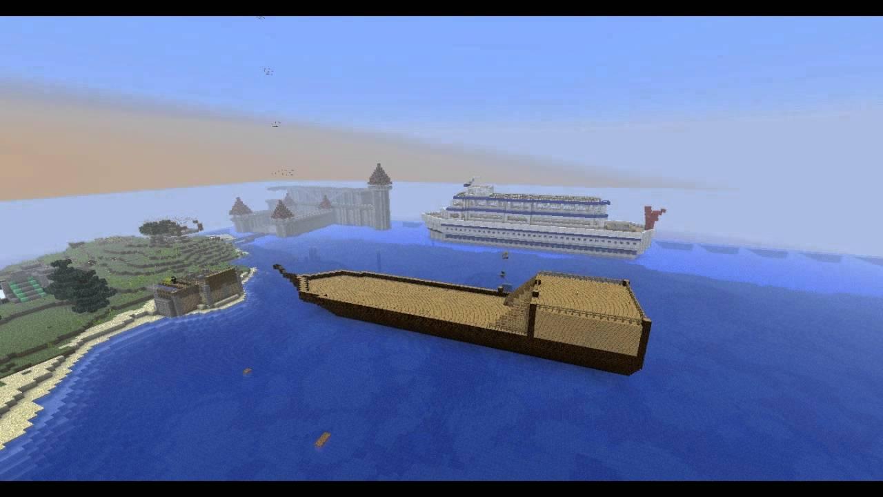 Construction D Un Bateau Pirate Sur Minecraft Youtube