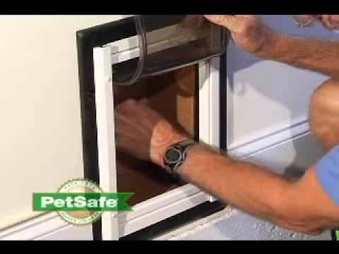 Petsafe Telescoping Aluminum Wall Entry Pet Door By Petsafe Youtube