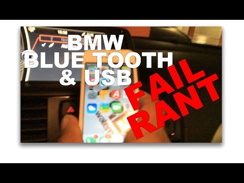 BMW iDrive Bluetooth & USB iPhone Pair FAIL RANT PLUS Simple Solution