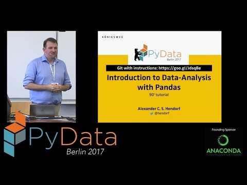 Alexander Hendorf - Introduction To Data-Analysis With Pandas