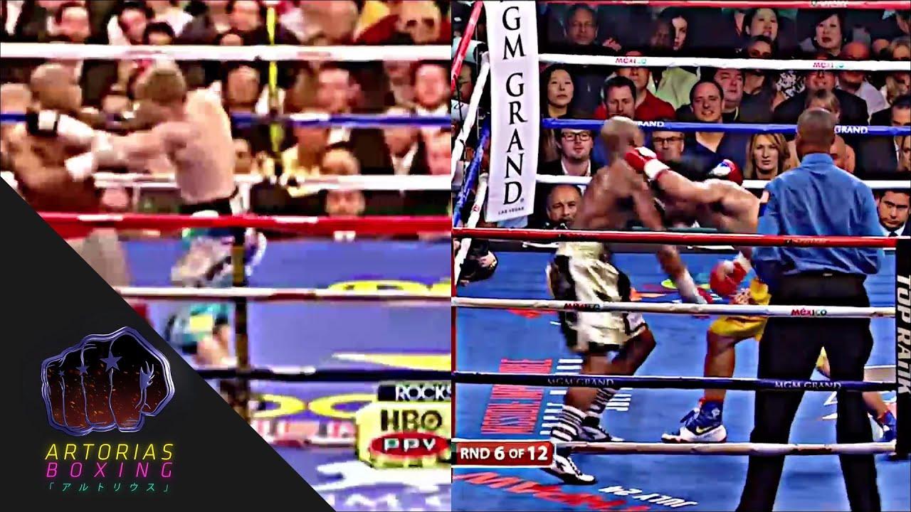 Manny Pacquiao Testing Mayweather\'s Chin - YouTube
