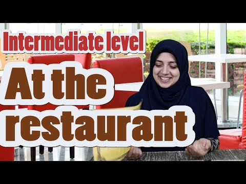 learn Arabic conversation | Intermediate level | 6 - At the restaurant