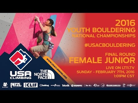 Female Junior • Finals • Sunday February 7th 2016 • LIVE 1:01PM CST