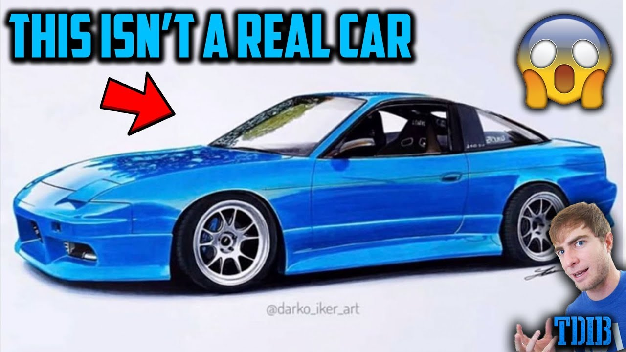 reacting-to-amazing-realistic-drawings-of-my-project-cars-2jz-240sx-mustang-gt-and-more