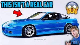 Reacting To Amazing Realistic Drawings Of My Project Cars! (2jz 240sx, Mustang Gt, And More!)
