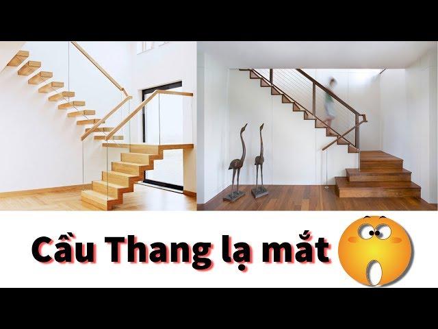 10+ mẫu cầu thang lạ mắt thiết kế từ Gỗ và Kính | Nội Thất Thủ Đô