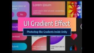 UI Gradient Effect : Unity Asset