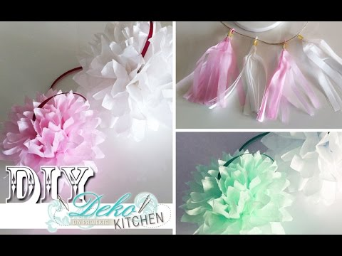 diy pompoms f r party deko selber machen deko kitchen. Black Bedroom Furniture Sets. Home Design Ideas