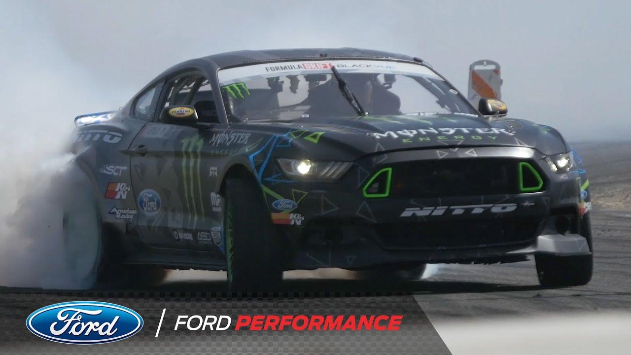Drifting in the Mustang RTR with Vaughn Gittin Jr  | Formula DRIFT | Ford  Performance