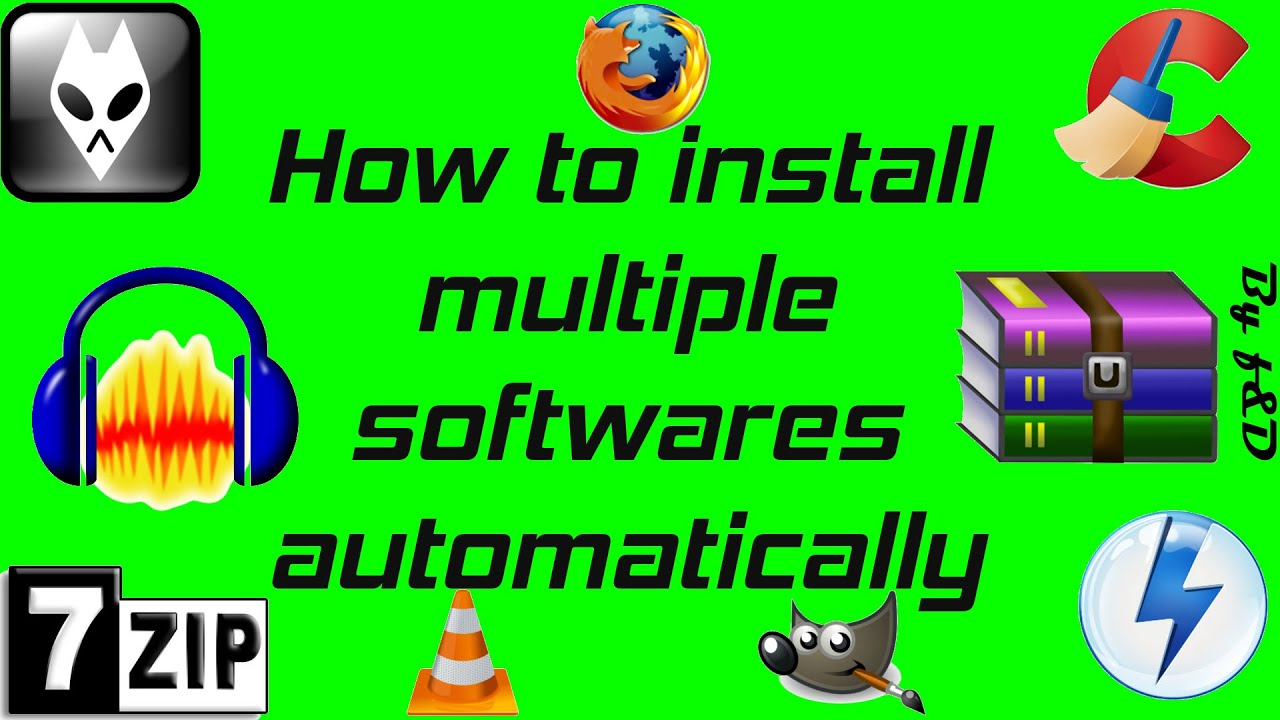 how to install multiple softwares automatically with