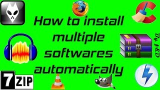 How to install multiple softwares automatically with Universal silent switch finder & Command prompt