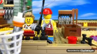 Тоннельная паука спасение и лучшая рыбалка с папой из Лего и с пончиком надо ловить осьминога