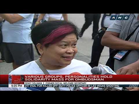 Tindig Pilipinas, other opposition groups hold solidarity mass for Ombudsman