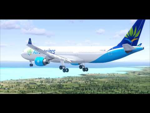 ⭐ FSX : Airbus A330-300 New Air Caraibes Delivery Flight Guadeloupe HD ! ⭐