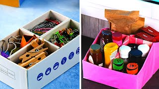 25 CARDBOARD PROJECTS FOR YOUR HOME  Easy Storage Hacks by 5-Minute Recipes!