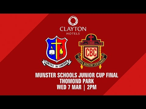 Clayton Hotels Munster Schools Junior Cup Final   St Munchin's 15-10 CBC