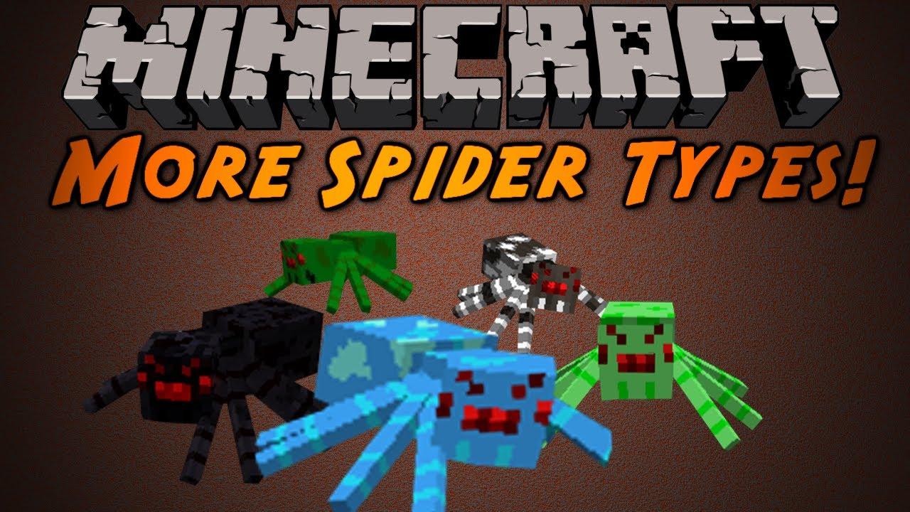 Minecraft More Spider Types Mod Youtube