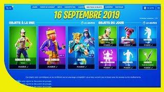 BOUTIQUE FORTNITE du 16 Septembre 2019 ! ITEM SHOP September 16 2019 !