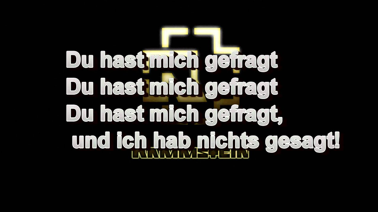 Du Hast - German and English - YouTube