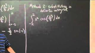 Definite Integral by Substitution   MIT 18.01SC Single Variable Calculus, Fall 2010