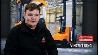Meet Vincent our 2021 TMHA Forklift Apprentice