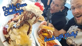 DADDY DAVE CHALLENGE |MAN VS FOOD| LUNCH WITH MOLLY SCHUYLER |LEATHERBYS
