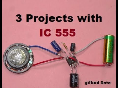3 beautiful projects with timer IC 555