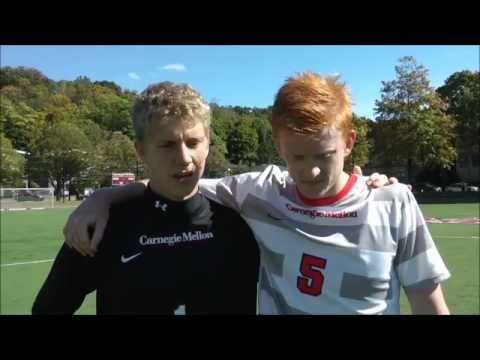 Carnegie Mellon University Men's Soccer Wash U Post Game Video