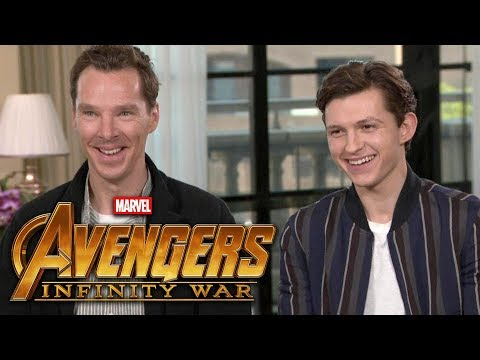 'Avengers: Infinity War': Benedict Cumberbatch and Tom Holland (FULL INTERVIEW)
