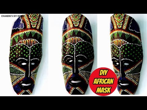DIY African Decorative Mask For Wall Decor || Plastic Bottle Mask || Craft From Waste ||