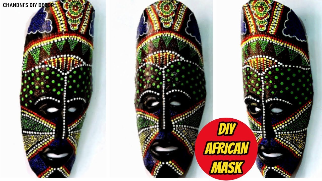 Diy African Decorative Mask For Wall Decor Plastic Bottle Craft From Waste