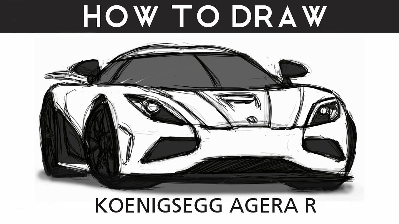 How To Draw Koenigsegg Agera R Step By Step Youtube