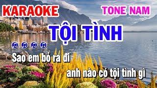 Tội Tình | Karaoke | Nhạc Sống Tone Nam Beat Chuẩn Nhất Năm 2019 | Karaoke Thanh Hải