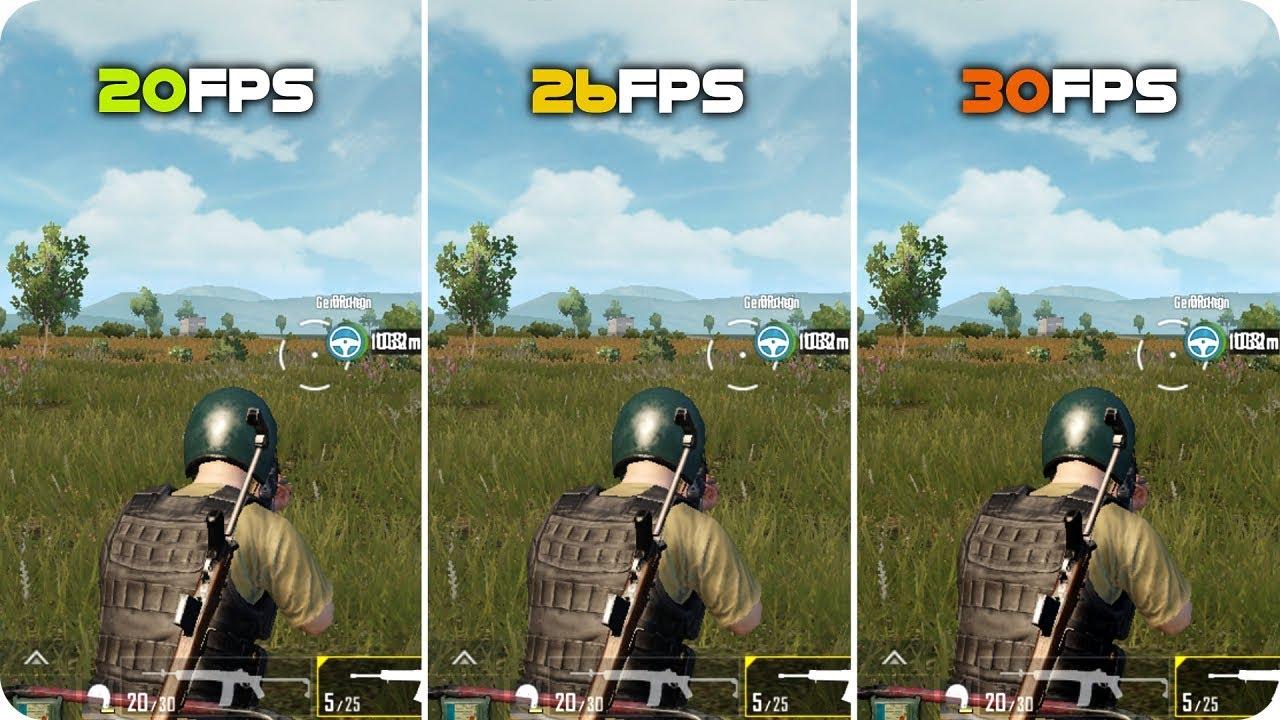Graphics Comparison - PUBG Mobile - 20FPS vs 26FPS vs 30FPS Frame ...
