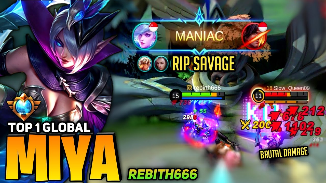 Download RIP SAVAGE! 7.500+ Matches Miya Max Level in 10 Minute! [Top 1 Global Miya] by rebirth666 ~ MLBB