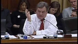 Congressman Mike Simpson questioned Energy Secretary Chu 3/24