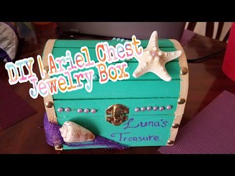 DIY | Ariel Inspired Treasure Chest / Jewelry Box