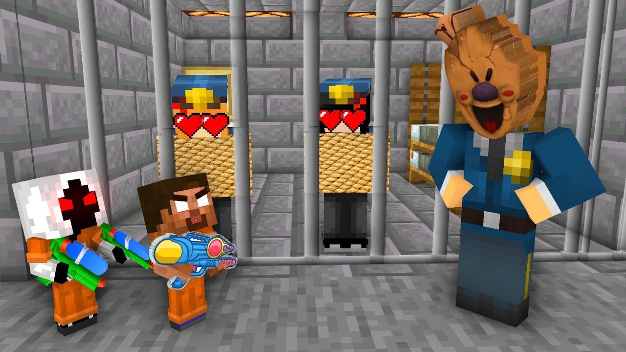 Download Minecraft, HEROBRINE and ENTITY PRISON BREAK + ICE SCREAM Curse & Apocalypse