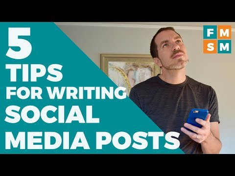 5 Easy Tips For Writing Social Media Posts