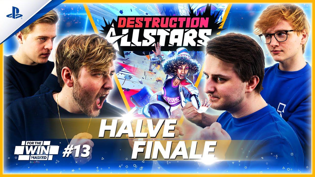 DESTRUCTION ALLSTARS met JEREMY, MATTHY, THOMAS en EGBERT | FOR THE WIN: MASKED #13 | PlayStation
