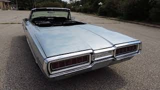 1965 Thunderbird blue convertible for sale at www coyoteclassics com