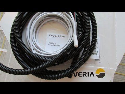Как завести датчик температуры пола в гофротрубку 10 мм от DEVImat