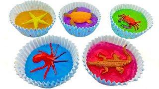 Сюрпризы. Лизуны. Морские животные. Учим цвета. Мультики для детей.