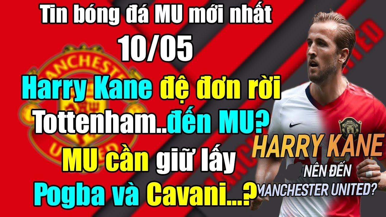 🔥TIN BÓNG ĐÁ MU 10/5: Harry Kane đệ đơn rời Tottenham đến MU...Dùng tiền giữ chân Pogba và Cavani?