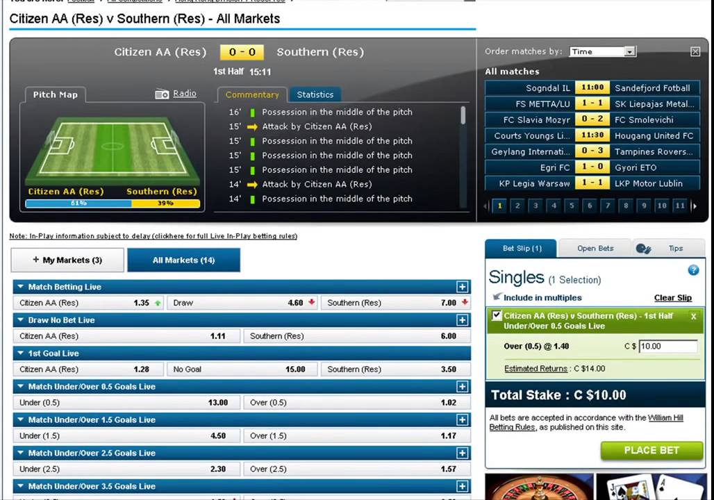 My Football Betting System - Over 0 5 Goals Before Half Time