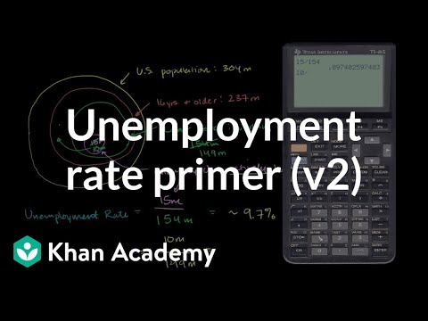 Unemployment rate primer (v2) | Current Economics | Finance & Capital Markets | Khan Academy