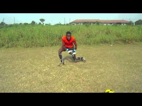 Guideon Effiom Edem (The young goalkeeper training) L & M Football Academy, Nigeria