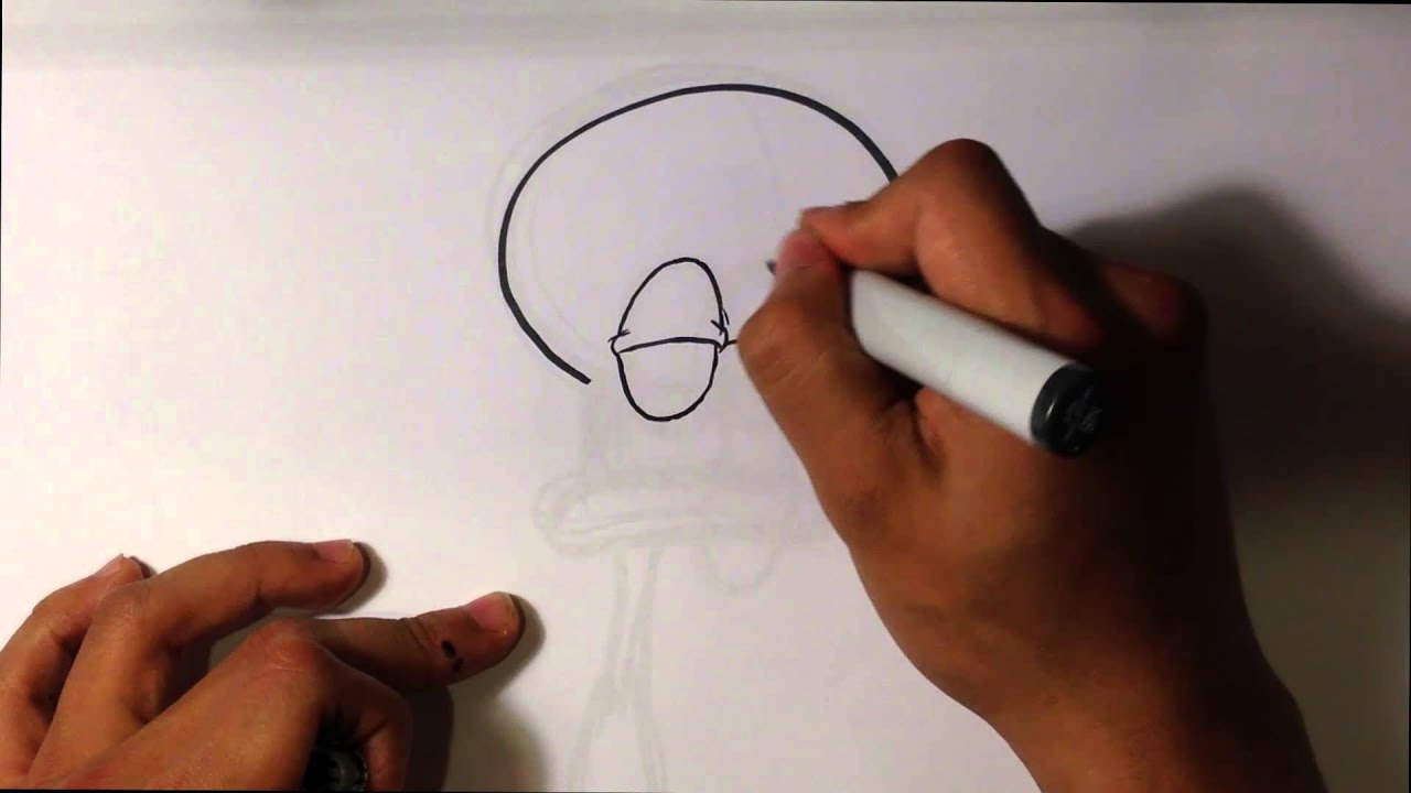 How To Draw Squidward From Spongebob Squarepants Easy